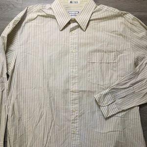 VTG 80s Yves Saint Laurent Dress Shirt 17 34-35 XL